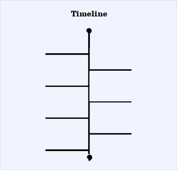 Blank Timeline Template 6 Free Samples Examples Formats – Sample Timeline Template for Kid