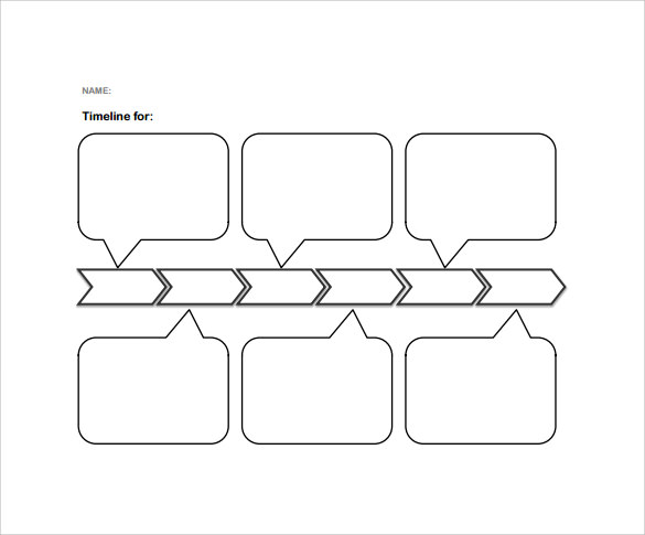 simple blank timeline template