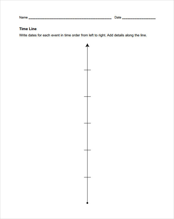 Blank Timeline Template 6 Free Samples Examples Formats – Sample Blank Timeline Template