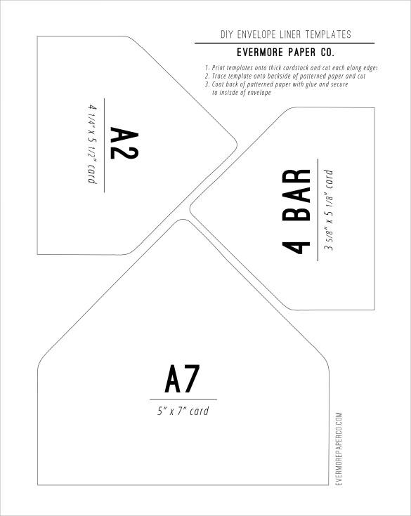 9 envelope liner templates samples examples formats sample templates. Black Bedroom Furniture Sets. Home Design Ideas