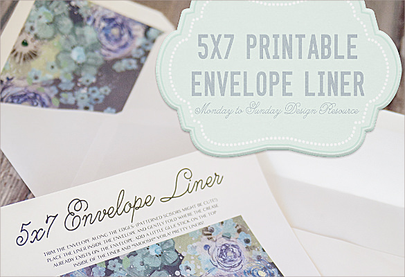 Envelope Liner Template - 8+ Free Samples ,Examples & Formats