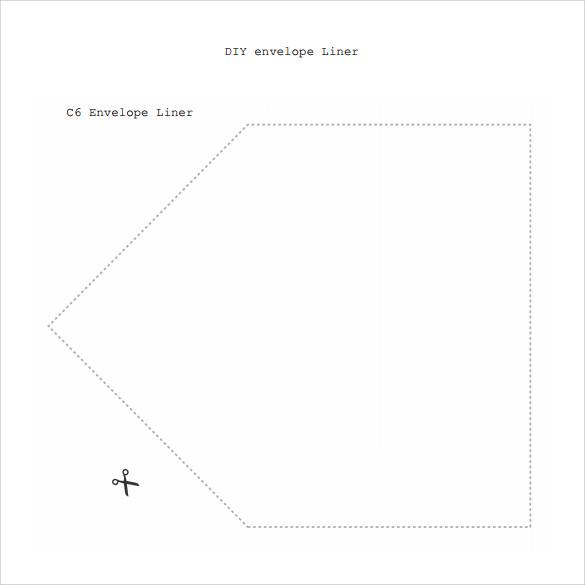 downloadable envelope liner template