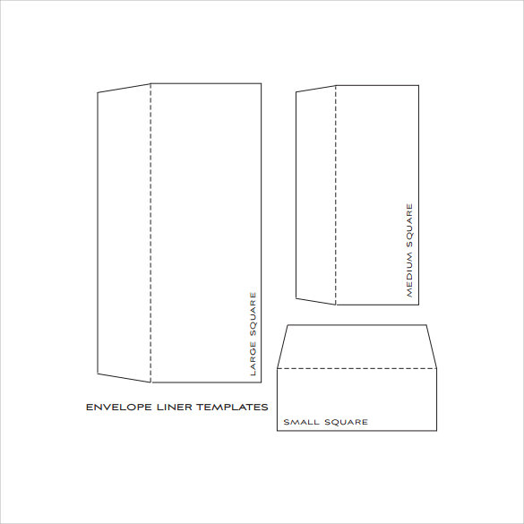 Envelope Liner Template   Free Samples Examples  Formats
