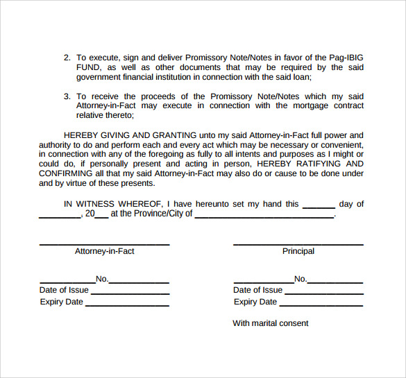 special power of attorney form template