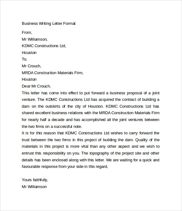 business writing letter format1