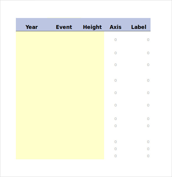Sample Excel Timeline   Documents In Pdf Excel