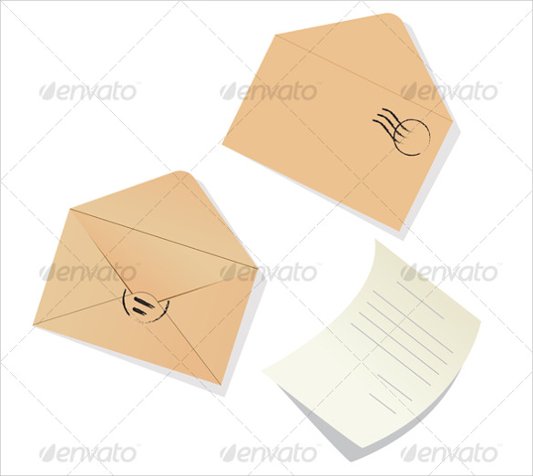 example of letter envelope template