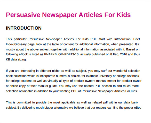 blank newspaper template for kids