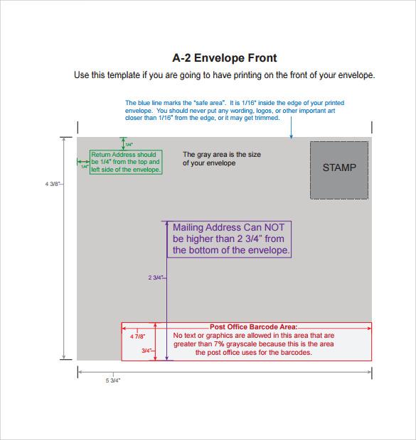 Envelope Printing Templates  BesikEightyCo