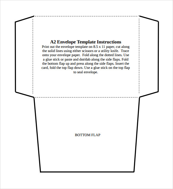 7 sample a2 envelopes sample templates for Mailer format template
