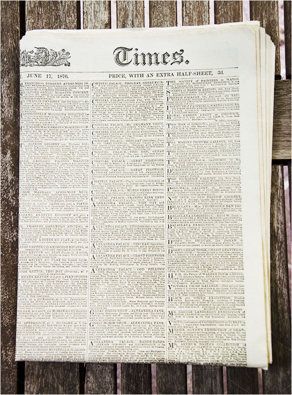 Old School Newspaper Template Romeondinez