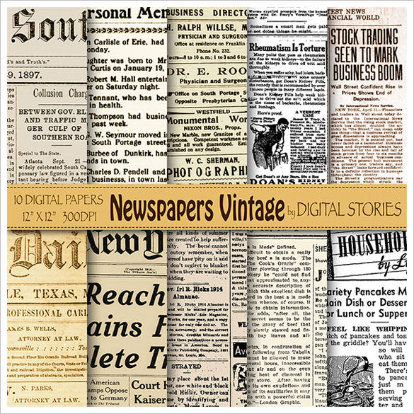 sample free old newspaper template