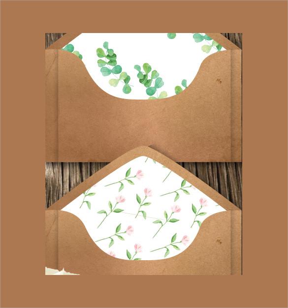 Wedding Gift Envelope Template : Wedding Card Envelope Template - 10+ Samples , Examples & Formats