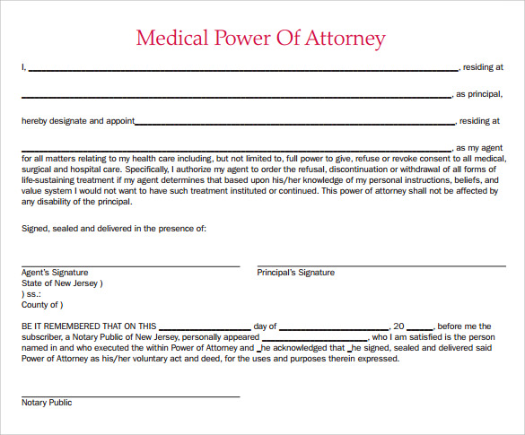 simple medical power of attorney