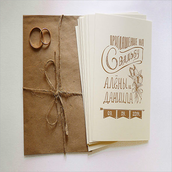 Wedding Card Envelope Template10+ Samples , Examples & Formats