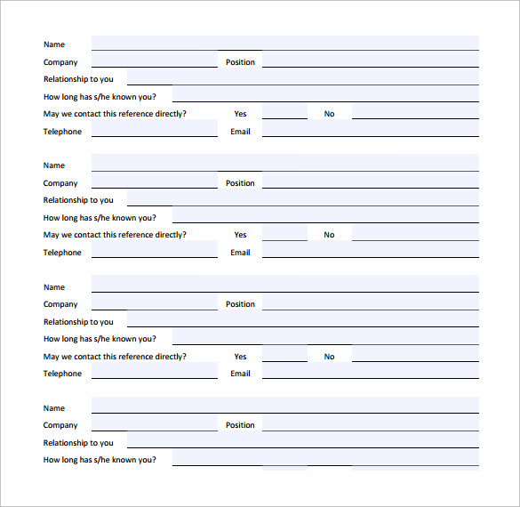 simple reference release form to download