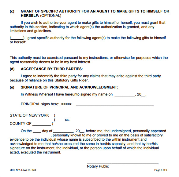Blank Power Of Attorney Form - 7+ Free Samples, Examples, Format