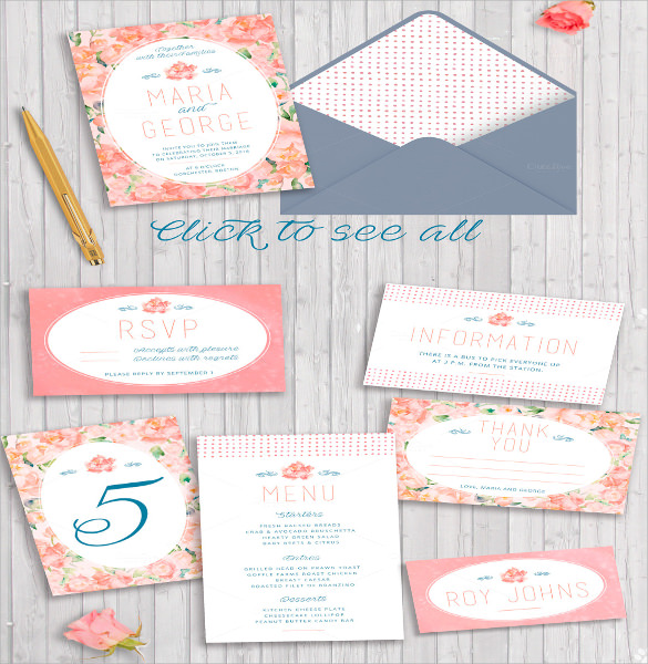 Wedding Card Envelope Template   Samples  Examples  Formats