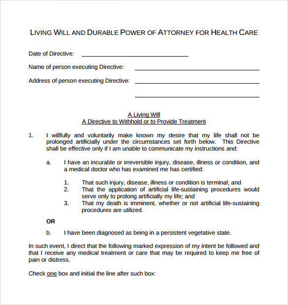 8 durable power of attorney forms samples examples formats sample templates. Black Bedroom Furniture Sets. Home Design Ideas