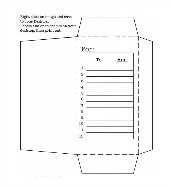 Envelope Template Printable Die Cut Envelope Template