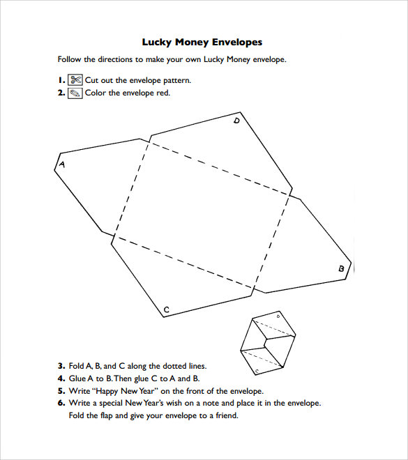 Money Envelope Template 7 samples Examples Format – Sample Small Envelope Template