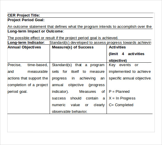 project timeline standard template2