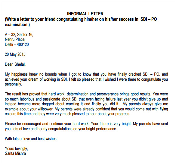Informal-Letter-Format-SPM Sample Informal Letter Template on business proposal,