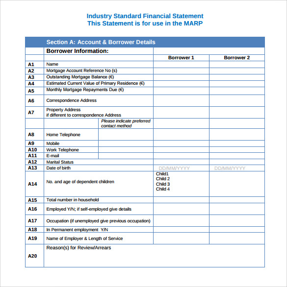 8 contribution income statement templates to download
