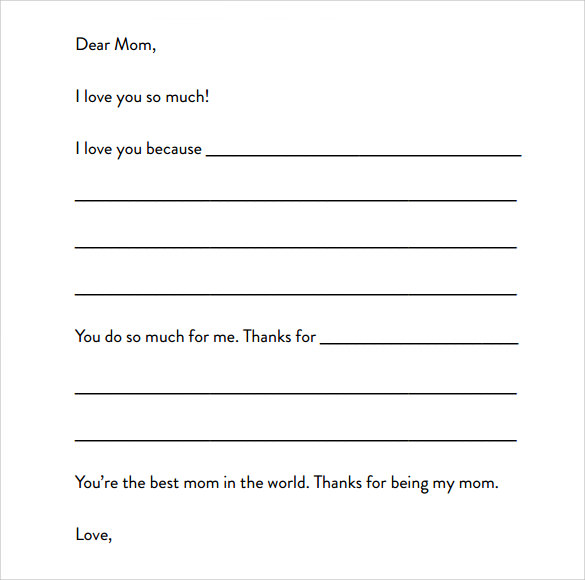letter format for kids template