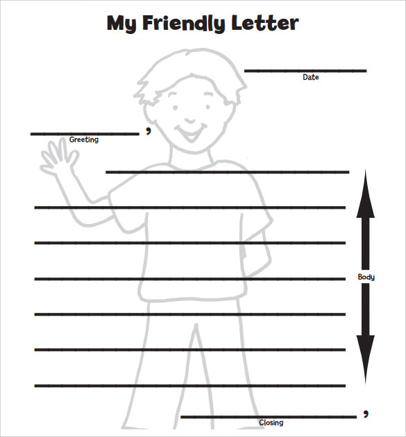 letter format for kids printable