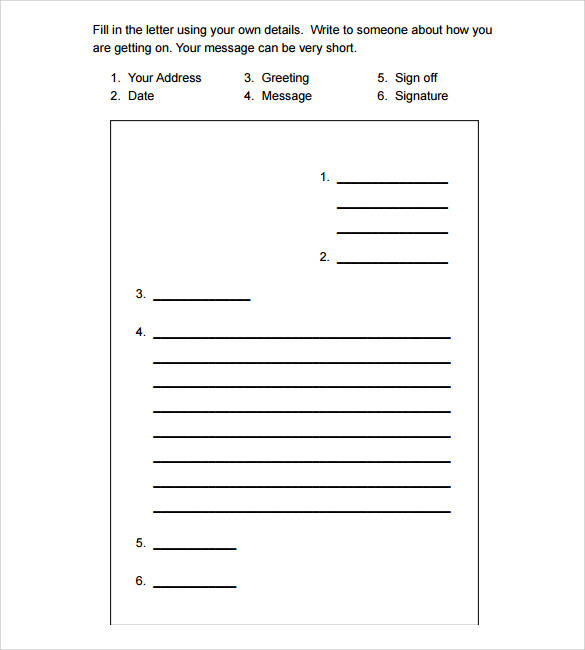 Sample Personal Letter Format – Sample Personal Letter Format