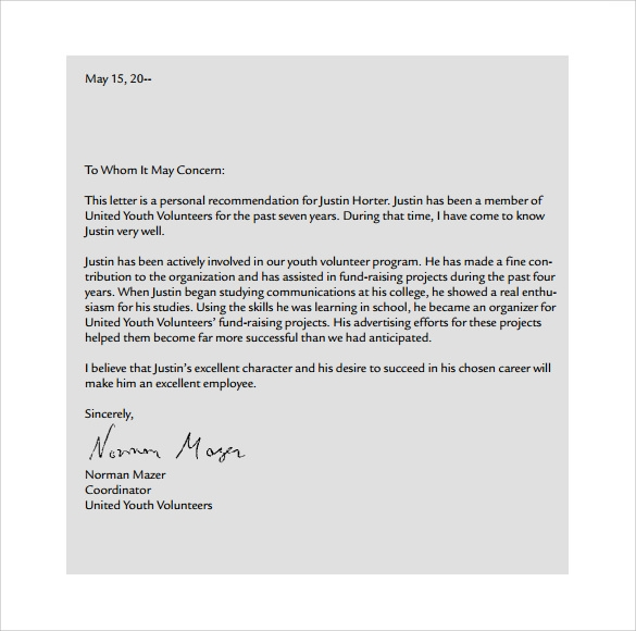 Personal Letter Format 9 Samples Examples Amp Format