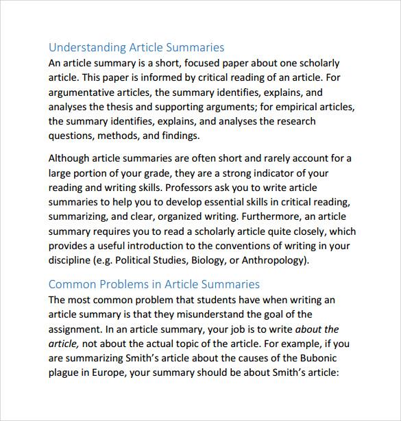 summary and response essay example