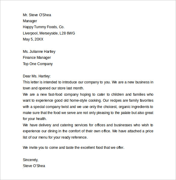 10 business letter formats samples examples format sample sample business introduction letter accmission Choice Image