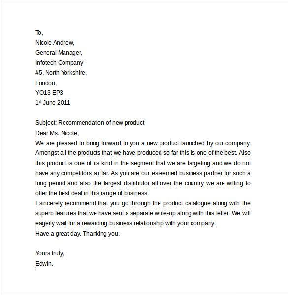 Business Letter Format 9 Free Samples Examples Format – How to Format a Business Letter