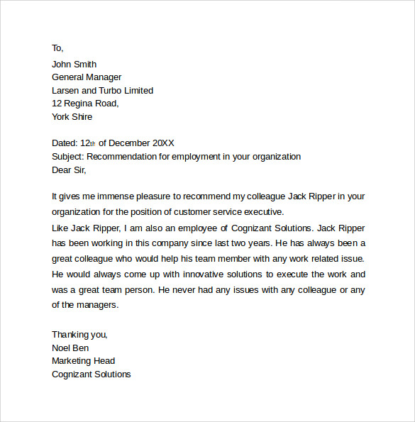 sample employee recommendation letter1