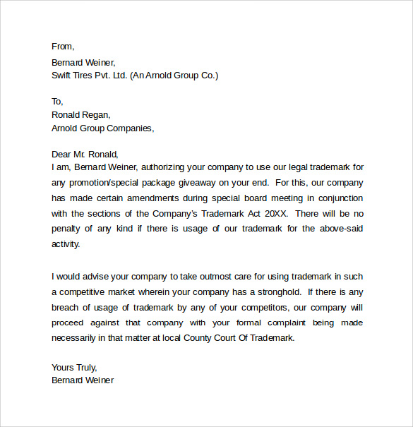 Legal Letter Template 8 Samples Examples Amp Formats