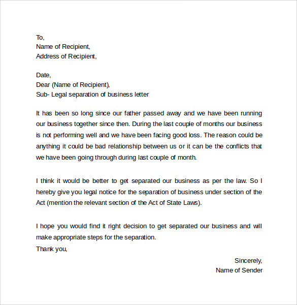 Legal Letter Template  Samples  Examples  Formats