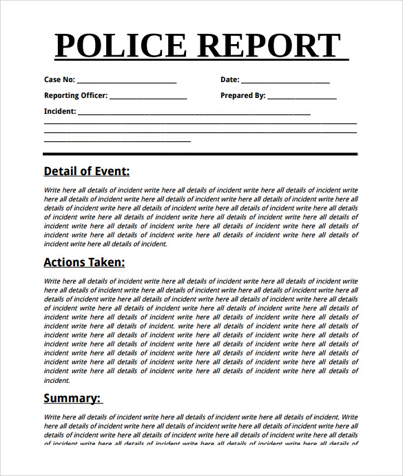 Summary Report Template    Free Samples  Examples  Format