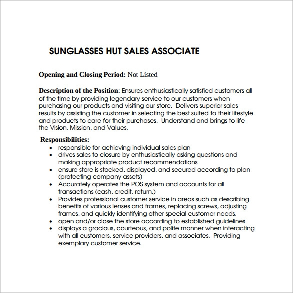 9 sales associate resumes samples examples format sample