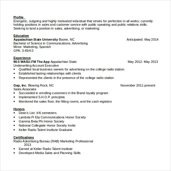 sales associate resume 7 free sles exles