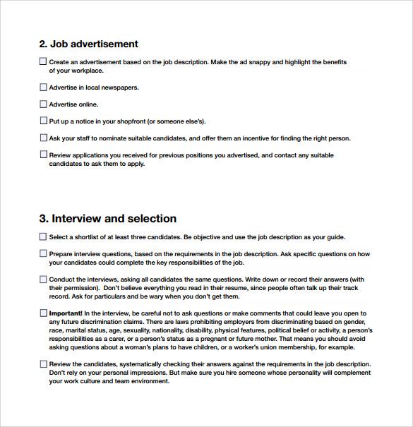 employe new hire checklist