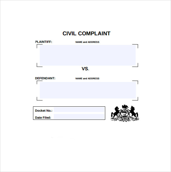 civil complain form