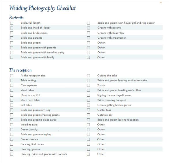 Wedding Planning Checklist Template 8 Free Samples