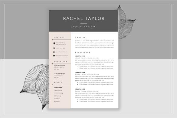 designer resume template example