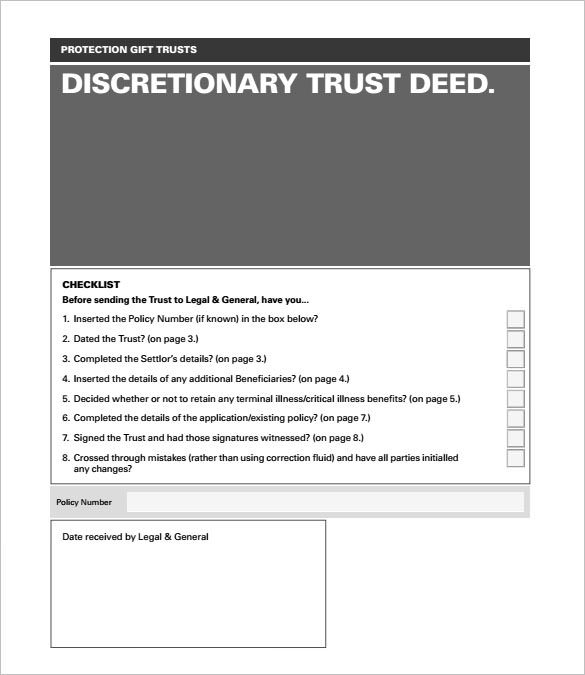 Deed Of Trust Form  WowcircleTk