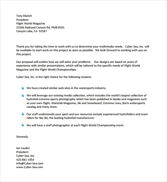 sample standard business letter format 7 free documents