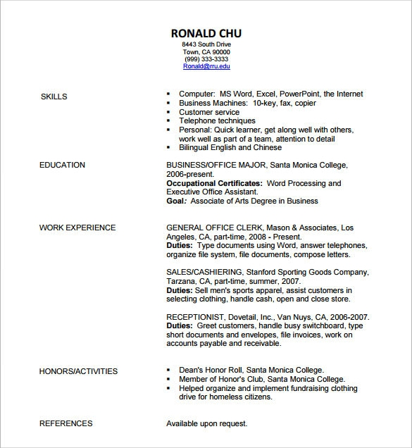 Recruitment Resume Free Editable Pdf Template Designer Cv Simple Curriculum  Vitae Format Download .