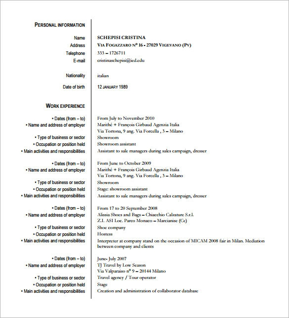 example technical fashion designer resume template