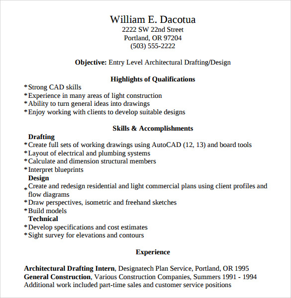 Construction Resume Templates Word Top Pick For GUARANTEED